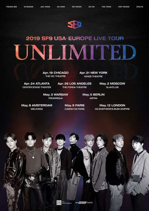 SF9 Unlimited Tour US Kpop